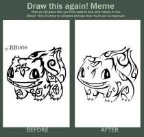 Tribal Bulbasaur: Before/After by blackbutterfly006