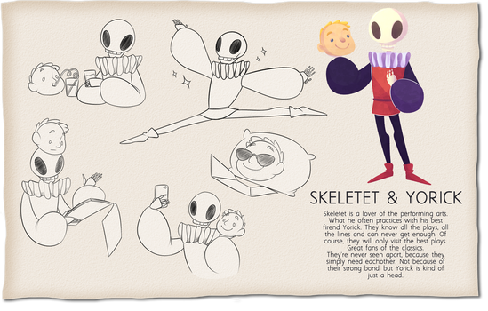 ATC - Skeletet and Yorick by Looji