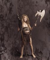 Little barbarian girl by ohlopkov