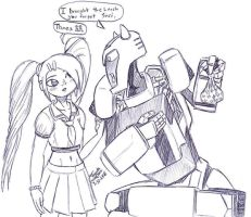 Sari and Bumblee-School Lunch by zmorphcom