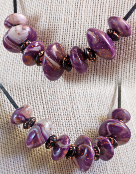 Polymer Clay Bead Necklace by Tephra76