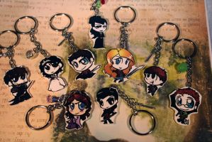 Second Set of Chibi Once Key Chains by KouranKiyo