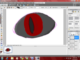 Demon Eye WIP by HellForeSoma-Yuki