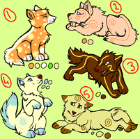 Wolf puppy adoptables by RippedMoon