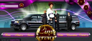 Limo website header by BraveDesign
