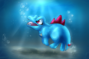 Totodile by Night-Wolf122