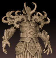 W.I.P. - Sargeras - The Fallen Titan by GastonBR