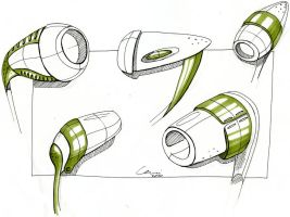 Headset sketches by CariSketching
