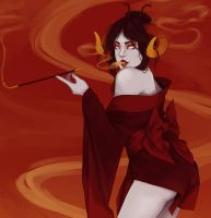 Damara Megido is smokinn by misakitoeevee