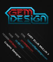 GEM Design Business Card by RoxaSora64
