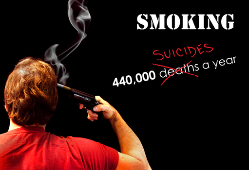 Smoking is Suicide by asukawashere