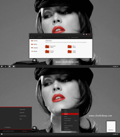 Black Red-X Theme For Windows 7 by Cleodesktop