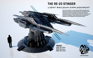 RE-23 Stinger Light Railgun Emplacement (FULL HD) by Duskie360