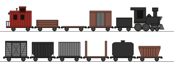 MLP Freight Train rolling stock by RailroadNutjob