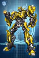 Movie Bumblebee blue by Dan-the-artguy