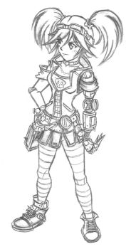 Old works #4: Gaige the Mechromancer by ChopnScrew