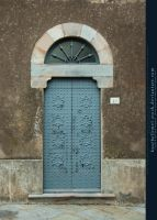 blue door by kuschelirmel-stock