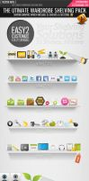 Vector shelf social icons by Lemongraphic