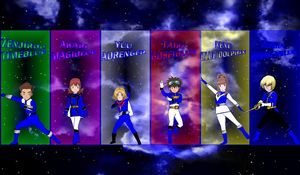 Digimon Gokaiger Blues for asrockrpg by rangeranime