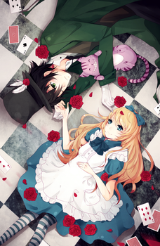 Alice and Mad Hatter by ryetou