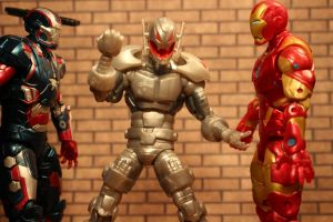 Iron Man and Iron Patriot versus Ultron by GhostLord89