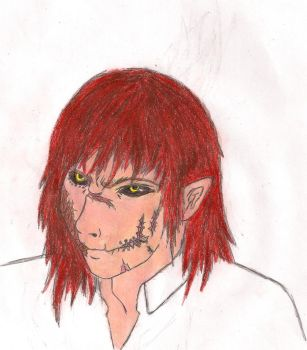 Xitemo face colored by Xitemorizel