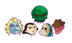 Chibi Monster Heads II by JosephLawn