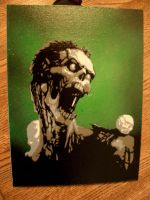 zombie on canvas by itsallblack