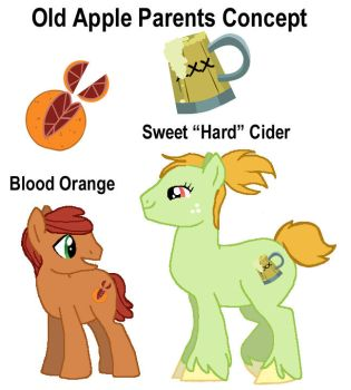 (OLD CONCEPT) Blood Orange and Hard Cider by ktCATSbone