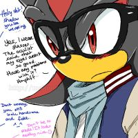 shadow has glasses by kartasmita