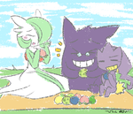 .Pokemon Picnic Time. by PatchworkedHeart