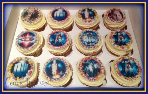 Dr Who Cupcakes by gertygetsgangster