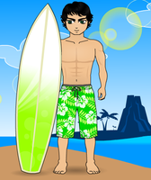 Character - Marcus - Beach by mizz4getful