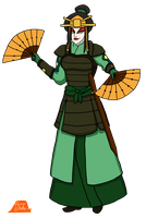 Azula In Kyoshi Warrior Disguise by PerryWhite