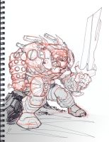 Fantasy Mecha Sketch by KomicKarl