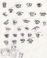 Anime eyes by celipink