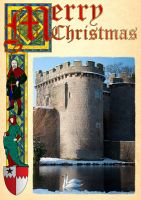 Whittington Castle Xmas Card by Pylo