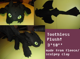 Toothless plush commish by Moopdrea