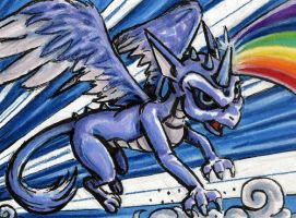 ACEO - Whirlwind by JRtheMonsterboy