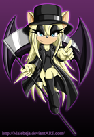 Mayrelyn the Bat (KOF OC in Sonic style) by Malebeja