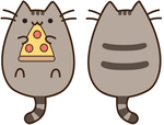 Pusheen Eating Pizza by sakuradesune
