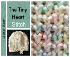 Loom Knit Tiny Heart Stitch by LoomaHat