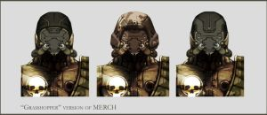 Concept Art RIDDICK AoDA - Enemy heads by torvenius