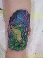 frog tattoo by Haretattoo