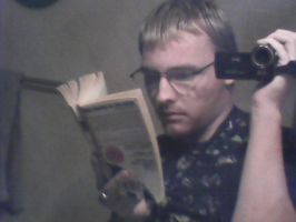 Me Reading by cmr-1990