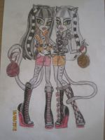 Monster High - The Werecats Twins by makoralover