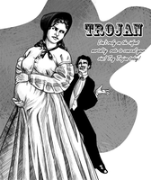 Tess of the D'Urbervilles: Old Timey Trojan Ad by shylittleghost