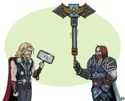 Thor Vs Thor by BehindtheVeil
