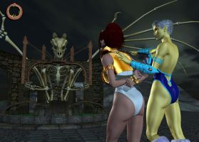 Teela vs. Evil-Lyn 27 by Uroboros-Art