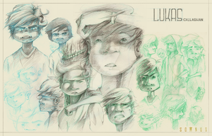 Lukas Callaghan character design by Zeich